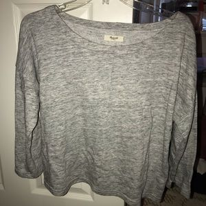 Madewell cropped layering sweater